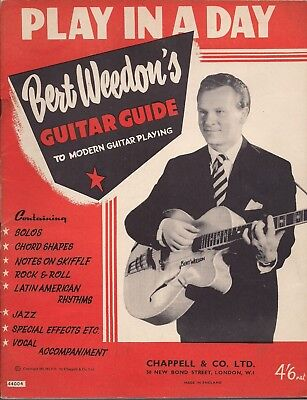 Bert Weedon Play In A Day Guitar Guide Vintage Original 1952 version 4/6 net UK