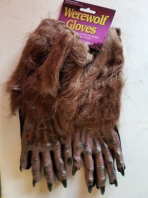 X-Long Werewolf Gloves Costume Accessory Adult Halloween New with tags