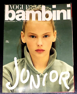VOGUE ITALIA Magazine December 1991 BAMBINI Kids Children Enfant Fashion