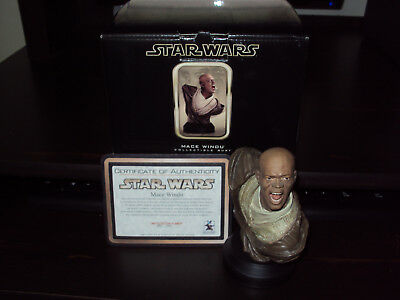 Gentle Giant, Star Wars Bust, Mace Windu #354 Of 2500, With Certificate & Box