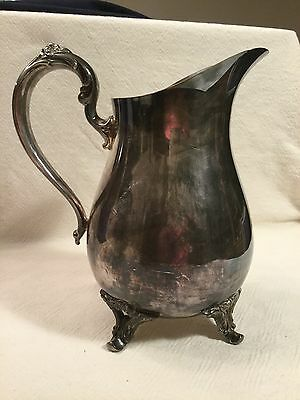 William Rogers Silverplate Footed Water Pitcher