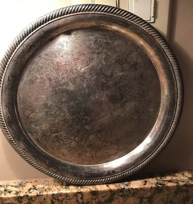 International Silver Co. Castleton Silver-plate Tray Platter