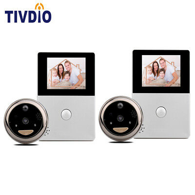 "2pcs Brand 2.8"" OLED Peephole Door Viewer Security Camera WiFi Doorbell Control"
