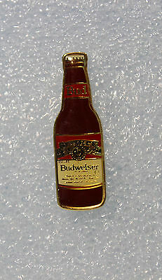 Vintage Budweiser Mini Beer Bottle  Collector Pin Hat / Lapel Pin