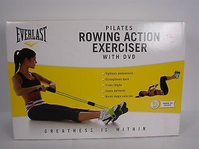 New Everlast Pilates Rowing Action Exerciser With Dvd