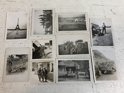 WW2 Photograph Picture Lot x10 Theatre France Rodina Germany Calas Staging Area