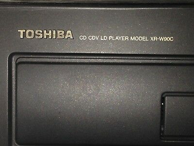 Toshiba LaserDisc Player Top Of The Line XR-W90C 32 Ld Remote