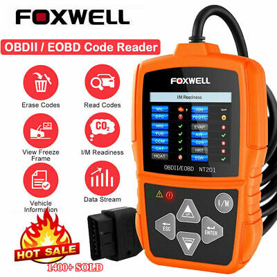 Foxwell NT201 OBD2 EOBD CAN Fault Code Reader Scanner Car Diagnostic Scan Tool