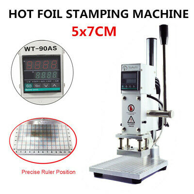 Digital Hot Foil Leather Stamping Machine Logo Bronzing PU PVC Embossing 300W