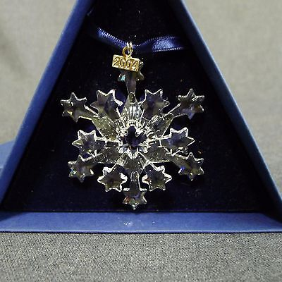 Swarovski 2004 Holiday Christmas Ornament Austrian Crystal Star Snowflake Boxed