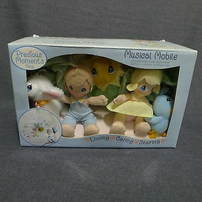 Precious Moments Musical Baby Mobile For Crib Soft Characters Animals 2006 NIB