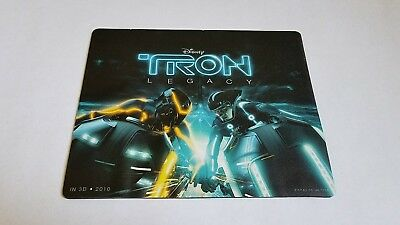 Rare 2010 Official Tron Legacy Movie Promo Mouse Pad - Disney Light Cycle Flynn