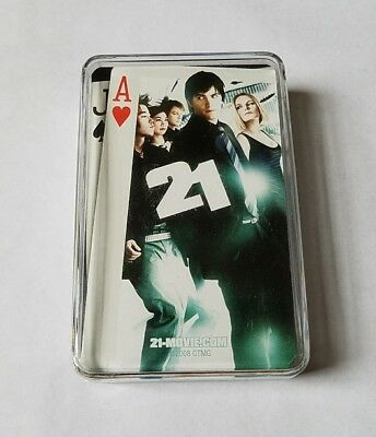 Rare Official 2008 21 Movie Promo Playing Cards Set - Kevin Spacey Kate Bosworth