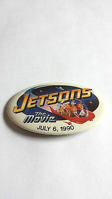 Rare Vintage 1990 Jetsons The Movie Promo Button #2 Astro Leroy Pin Universal Tv