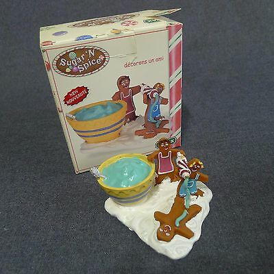 Lemax Sugar N Spice Making Friends Blue Icing Holiday Christmas Village 2004
