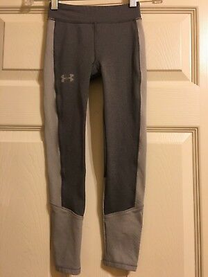 UNDER ARMOUR Storm Boys Gray Leggings Youth XS