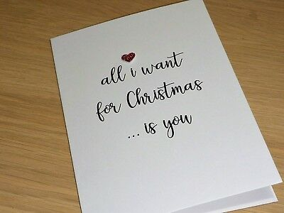 Christmas card - All I want for Christmas - husband wife girlfriend boyfriend