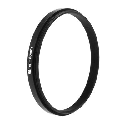 58mm To 55mm Metal Step Rings Down Lens Adapter Filter Camera Tool Accessory New