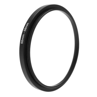 55mm To 58mm Metal Step Up Rings Lens Filter Adapter Camera Tool Accessories New