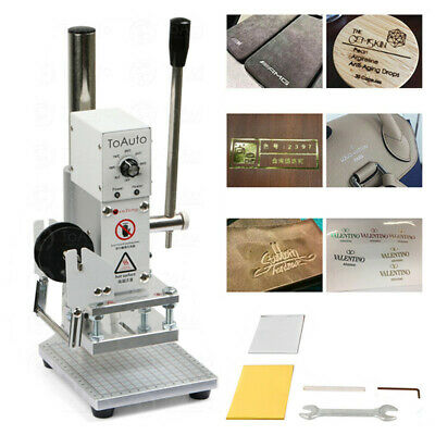 Hot Foil Stamping Machine 300W Manual Leather PU PVC Embossing Bronzing & Holder