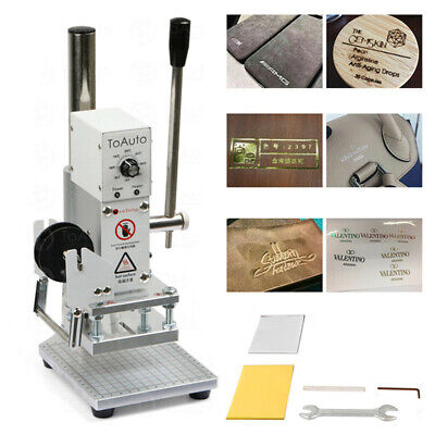 Manual Hot Foil Stamping Machine Leather Card Paper PU Embossing Bronzing Stamp