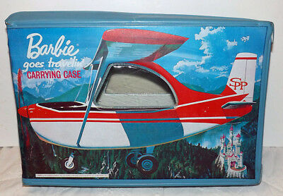 Vintage Barbie Goes Travelin' Doll Case 1965 Mattel Rare Great Condition