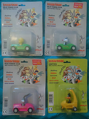 Loony Tunes WindUp Car/Copter Toys TWEETY+SYLVESTER+DAFFY DUCK + BUGS BUNNY NEW!