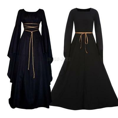 Medieval Womens Vintage Victorian Renaissance Costume Gown Dress Gothic Clothing