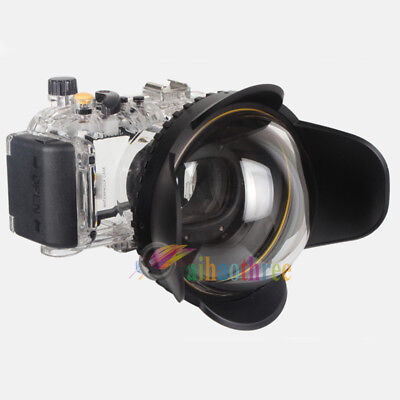 Meikon 40M Waterproof Diving Case + Fisheye Wide Angle Dome Port For Canon S110
