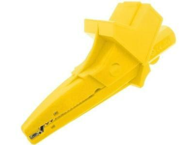 PJ5004-LM-IEC-Y Crocodile clip 20A 1kVDC yellow Grip capacity max.25mm