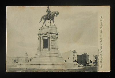 1907 Monument to General Robert E. Lee Civil War Richmond VA Postcard Virginia