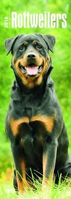 Rottweilers 2018 Slimline Wall Calendar by Browntrout, Postage Included