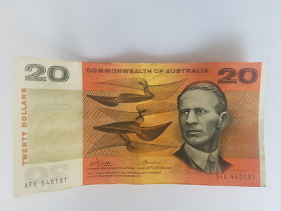 Commonwealth of Australia - Australian $20 Paper Banknotes Phillips/Wheeler