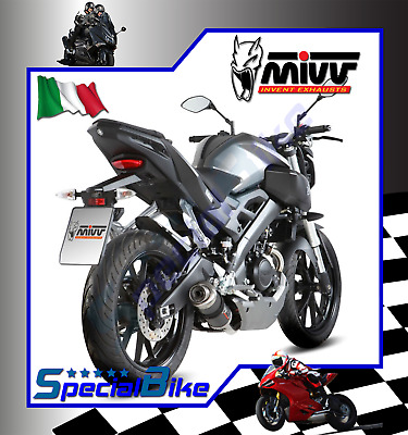 Full System Exhaust Yamaha Mt 125 2015 015 Mivv Gp Carbon 1X1
