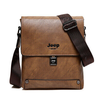 Top Men's Bag Jeep Buluo Fashion Leather Shoulder Bags Briefcase Free Shipping