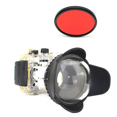 Meikon 40M Waterproof Case + Fisheye Wide Angle Dome Port + Filter For Canon G16