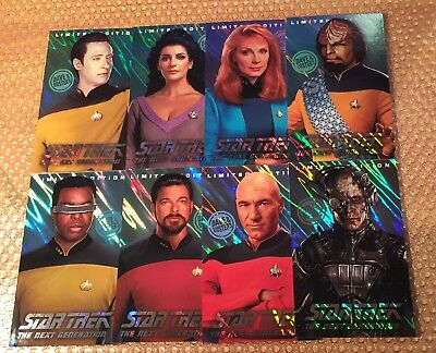 Complete FOIL Set Star Trek LE HOLOGRAPHIC Dave and Buster's 8 Card w/ BORG !!!