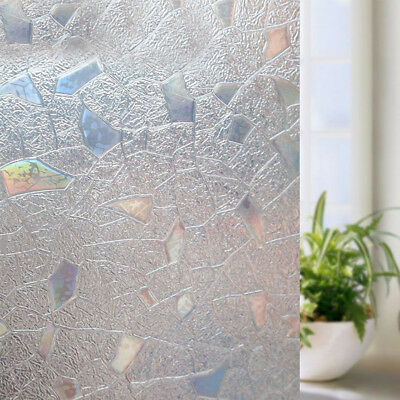 Waterproof 3D View Frosted Sticker Glass Static Privacy Window Film Home Office
