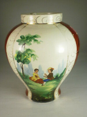 Vintage Courting Couple Vase (Chip)