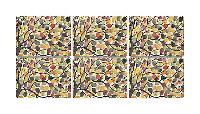 Pimpernel Dancing Branches Placemats Set of 6 Cork Backed Mat Tablemat Tableware