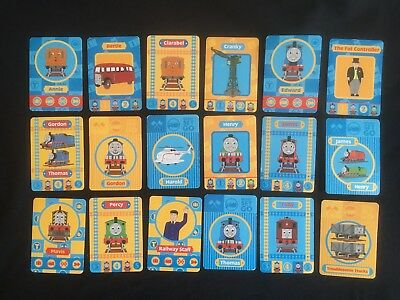 Thomas the Tank Engine and Friends. 18 different trading swap playing cards.