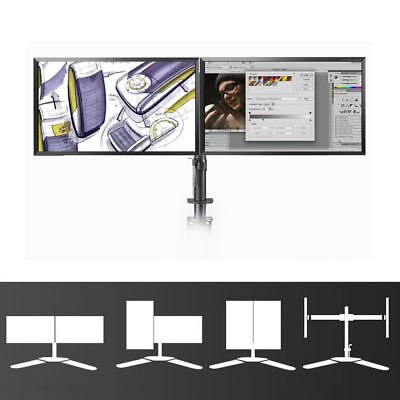 """10""""- 27"""" LED Dual Monitor Stand  Bracket Arms Holds LCD Screen TV VESA Display"""