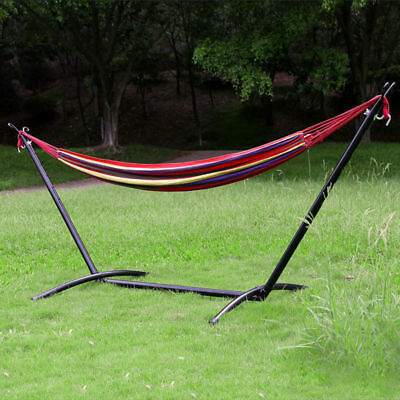 HLC Portable Cotton Fabric Mental Frame Stand Swing Chair Hammock Outdoor Camp