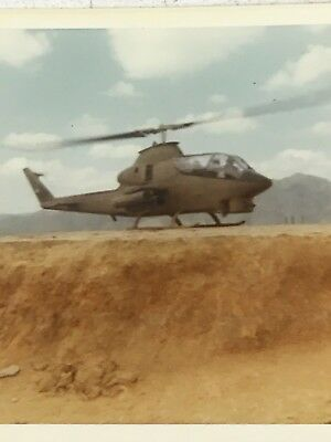 Vietnam Photograph Pictures Album Cobra Attack Helicopter Landing Pad Fire Base