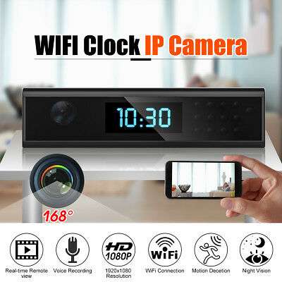 1080P FHD Wireless Wifi Spy Hidden Camera IP Clock Video Recorder Home Security