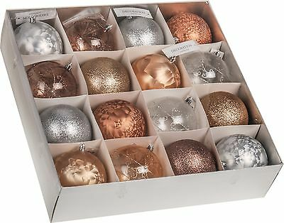 16 Very Large Christmas Tree Decorations 100mm Christmas Baubles Shatterproof