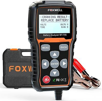 Foxwell BT705 Car Battery Load Tester & Charging System Analyzer 100-2000 CCA AU