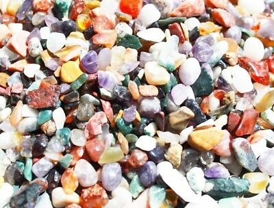 Mixed Natural Gemstone Chippings 7-12mm Various Quantitys Home Fishtanks Crafts