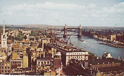 121 Postcard The Pool Of London Tower And Tower Bridge
