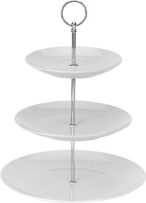 3 Tier White Porcelain Cake Stand Cupcake Stand Food Stand